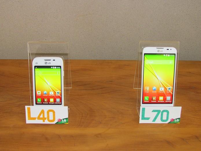 L40 e L70 têm hardware similar, mas diferem no tamanho e no recurso de TV Digital (Foto: Paulo Alves/TechTudo)