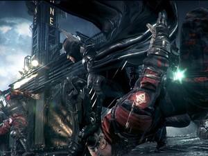 Guardas do Asilo Arkham, palco do primeiro jogo do Batman feito pela Rocksteady, também aparecem em imagem de 'Arkham Knight' (Foto: Divulgação/Rocksteady)