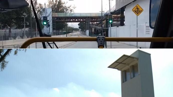 Elevador era ligado a passarela na época dos Jogos (Foto: Reprodução SporTV)
