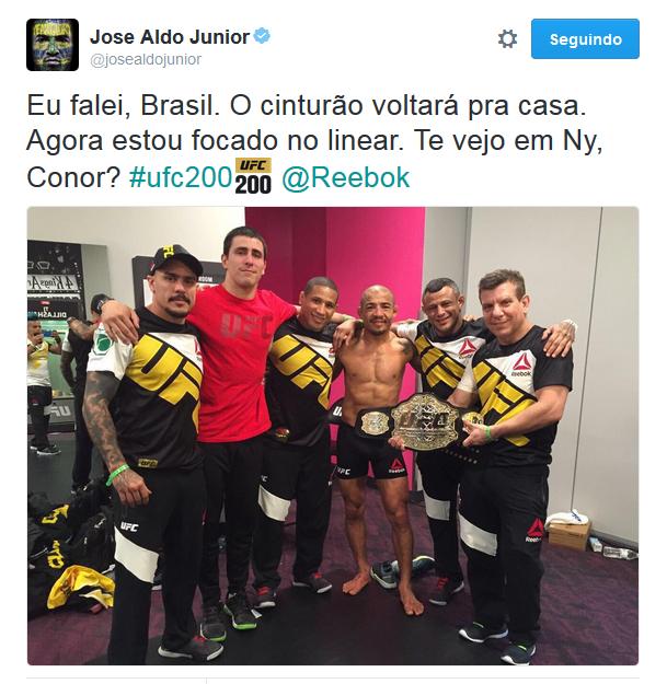 BLOG: Após ganhar cinturão interino, Aldo desafia Conor e sugere luta em Nova York