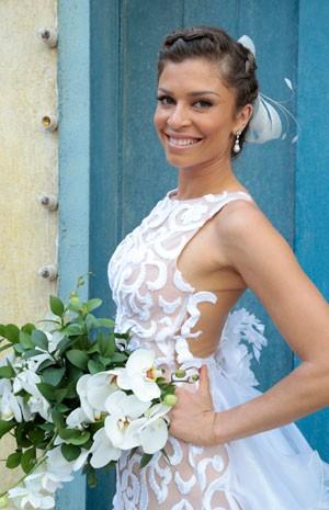 Ester se casou com Cassiano (Foto: Flor do Caribe/TV Globo)