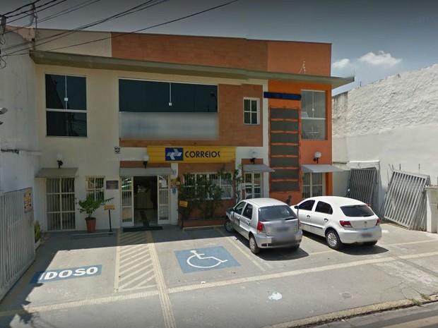 Assalto aconteceu em agência dos Correios no bairro São Luiz, em Itu  (Foto: Reprodução/Google Street View)