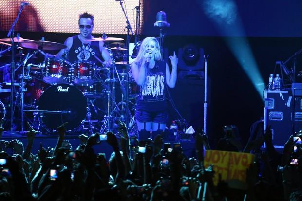 Avril Lavigne se apresenta no Rio (Foto: Marcello Sá Barretto / AgNews)
