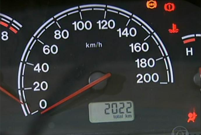 Odômetro de carro