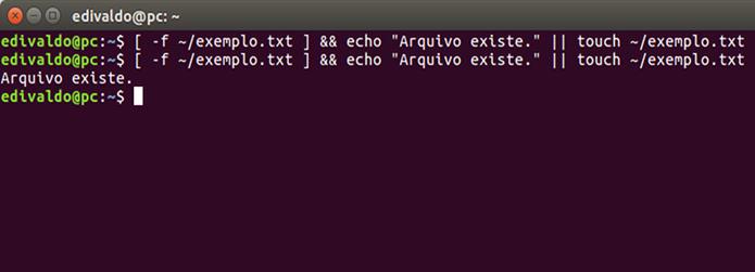 Executando três comandos com operadores diferentes (Foto: Reprodução/Edivaldo Brito)