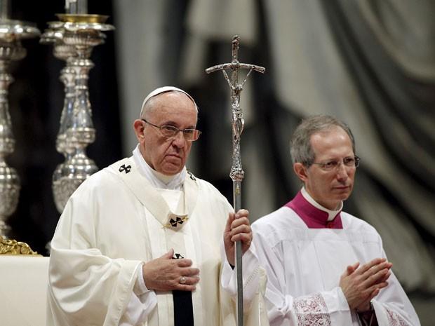Papa Francisco durante cerimônia no Vaticano (Foto: Max Rossi/Reuters)