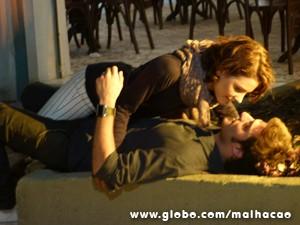 Ele delira, pensando num romance entre os dois (Foto: Malhação / TV Globo)