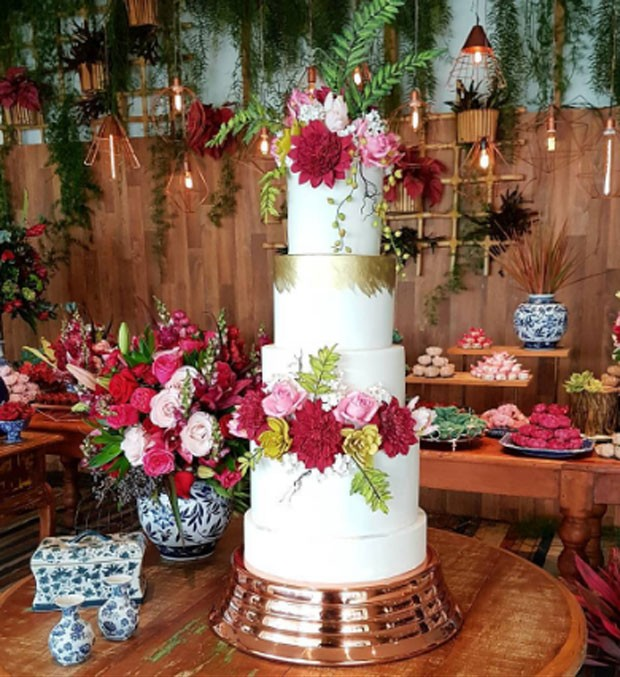 Bolo do casamento (Foto: Reprodução)
