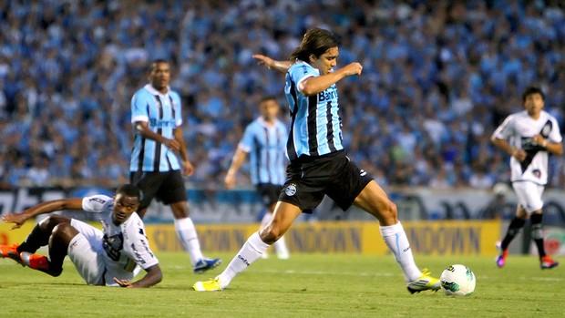 Marcelo Moreno na partida do Grêmio contra a Ponte Preta (Foto: Lucas Uebel / Site Oficial do Grêmio)