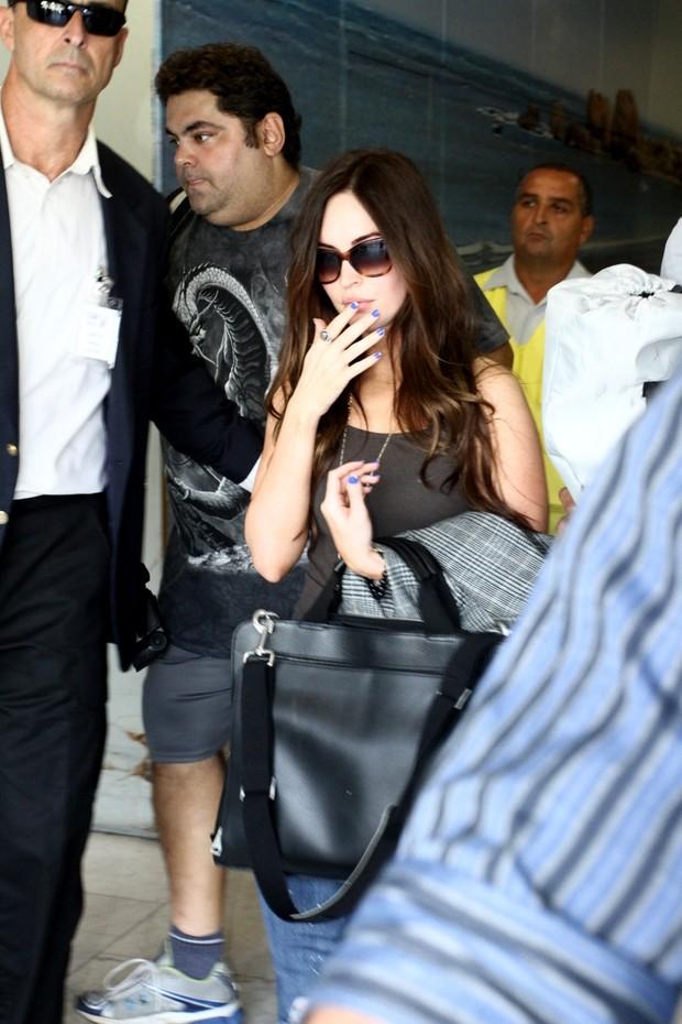 Megan Fox chega ao Rio (Foto: Gabriel Reis e Marcello Sa Barretto / Ag.News)