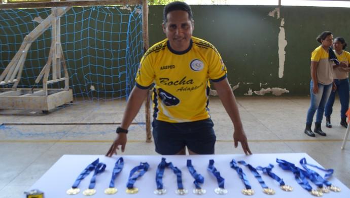 Confira o vídeo abaixo de uma partida do primeiro Campeonato de Bocha adaptada. (Foto: Rafael Moreira/GE-AP)