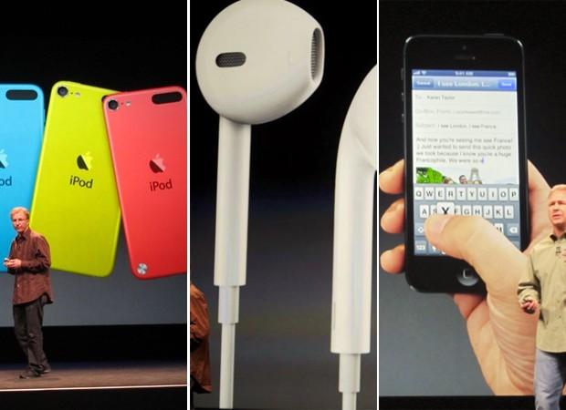 Novos iPhones, fones e iPhone 5: lançamentos da Apple (Foto: Reprodução)