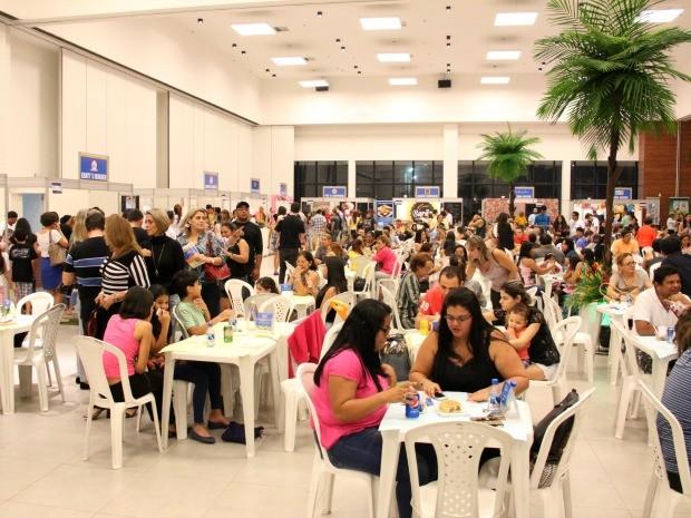 Evento reuniu 14 restaurantes do Amazonas, no Centro de Convenções Vasco Vasques em Manaus (Foto: Jamile Alves/G1 AM)