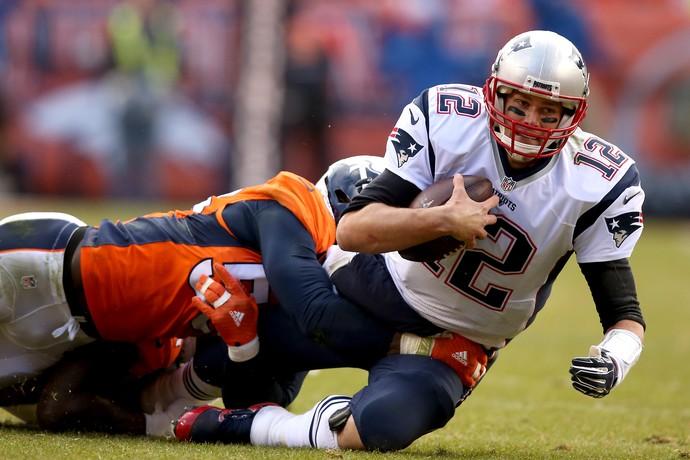 Tom Brady  New England Patriots x Denver Broncos NFL (Foto: Getty Images)