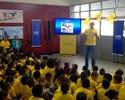 """Casa do Vôlei na Olimpíada, escola municipal recebe visita do """"Tio Tande"""""""