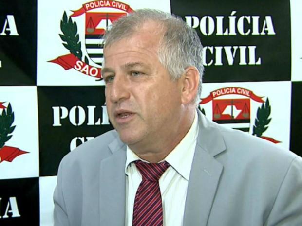 O delegado José Augusto Franzini, de Brodowski (SP) (Foto: Cláudio Oliveira/EPTV)
