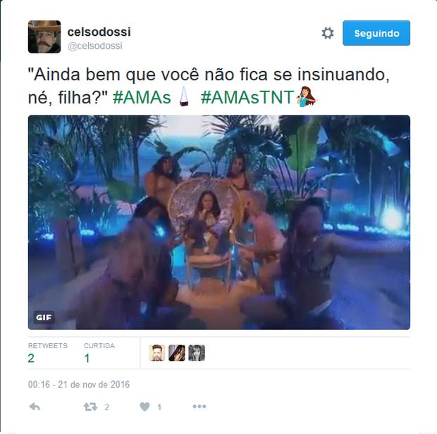 Nicki Minaj vira meme após performance no AMAs (Foto: Reprodução/Twitter)