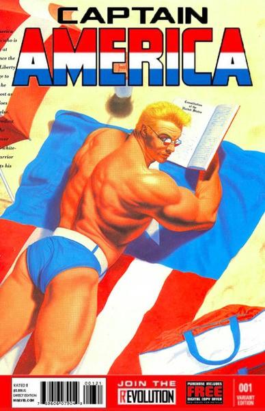 O Capitão América sexy (Foto: Reprodução)
