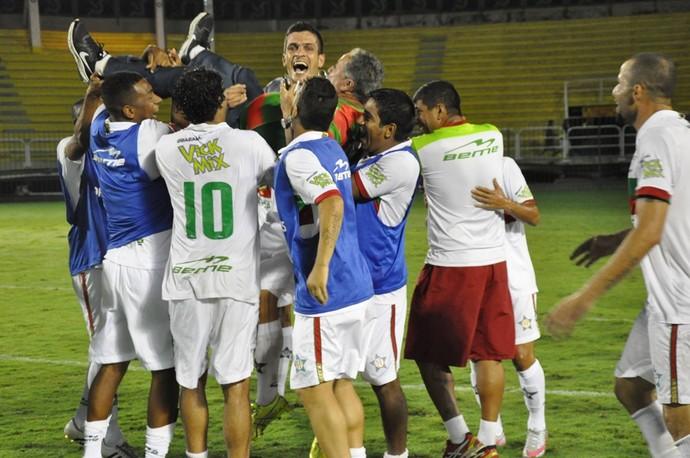Portuguesa festeja vaga na final da Copa Rio (Foto: Anderson Luiz (ASCOM/AAPortuguesa))