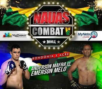 Anderson Mafra x Emerson Melo tem duelo no 5º Náuas Combat de MMA (Foto: Divulgação/Náuas Combat)