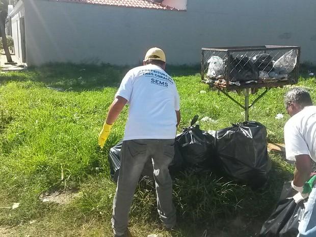 Mutirão já recolheu cerca de cinco toneladas de materiais em Três Corações (MG) (Foto: Reprodução/Prefeitura Municipal de Três Corações)