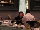 Camila Rodrigues, Juliana Knust e Eri Johnson jantam juntos no Rio