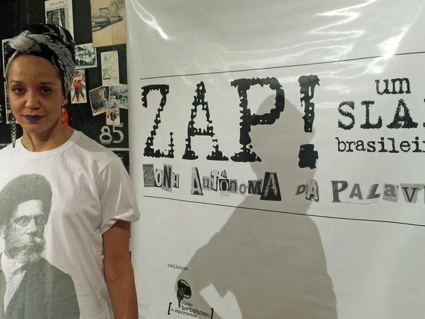 Roberta Estrela D'alva, fundadora do ZAP! Slam (Foto: Eduardo Pereira/G1)