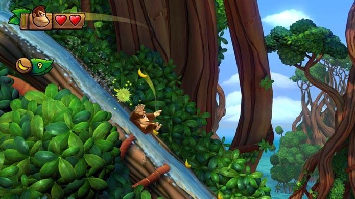 Donkey Kong faz sua estréia na nova geração com Tropical Freeze (Foto: Reprodução/Murilo Molina)