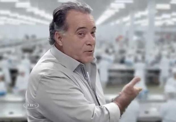 """O ator Tony Ramos no comercial da Friboi: """"surpreendido"""", disse ele após operação da PF (Foto: Reprodução/YouTube)"""