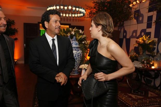 Marcos Palmeira e Bárbara Paz em festa no Rio (Foto: Felipe Panfili/ Ag. News)