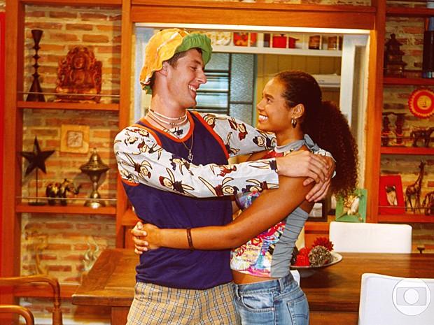 Na trama, a personagem Naomi enfrentava o preconceito da família do namorado (Foto: Cedoc / TV Globo)