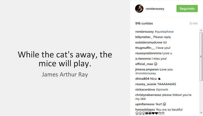 Ronda Rousey instagram