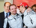 """Alonso? Lewis? Button elege Rubinho o melhor companheiro: """"Outro nível"""""""