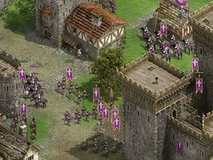 Guerreiros preparam-se para o ataque.