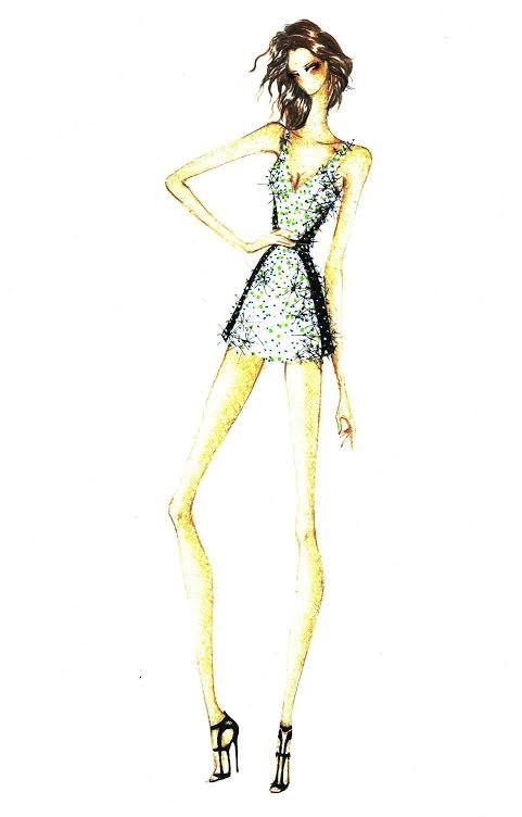 Croqui do Vestido de Ivete para o Festival de Verão (Foto: Reprodução)