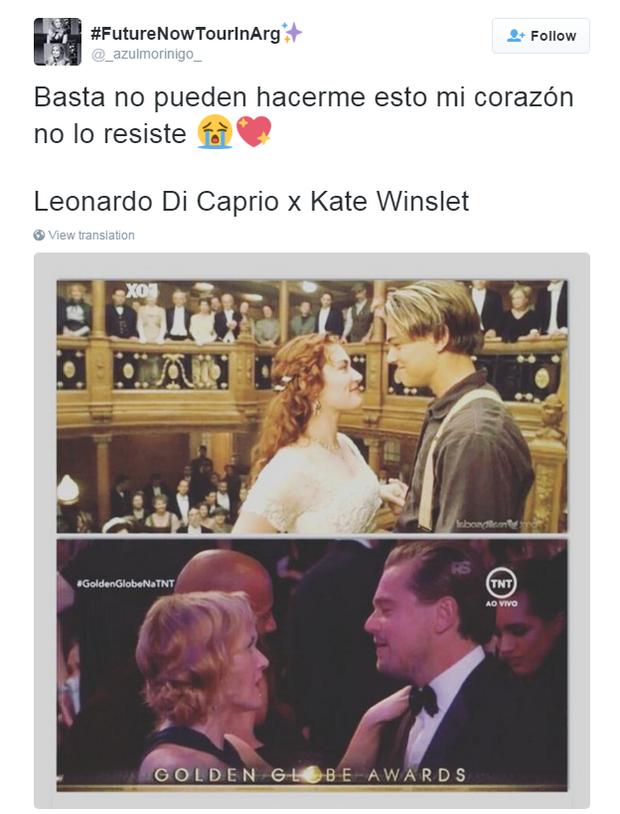 Comentários sobre Kate Winslet e Leonardo DiCaprio  (Foto: Twitter / Reprodução)