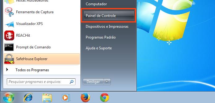 Abrindo o Painel de Controle no Windows (Foto: Reprodução/Edivaldo Brito)