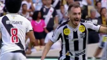 Eduardo marca pelo Ceará contra o Vasco e é destaque no Globo Esporte; veja