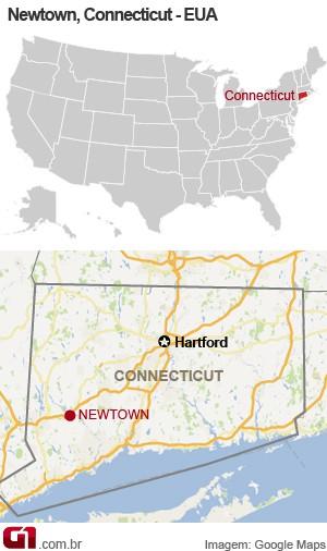 mapa tiroteio connecticut 14/12 (Foto: 1)
