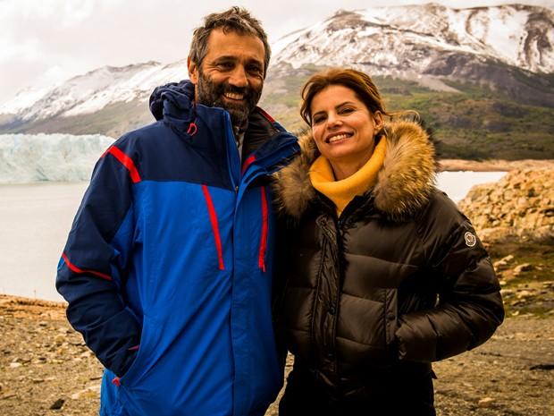 Débora Bloch e Domingos Montagner fazem par romântico em Sete Vidas (Foto: João Miguel Júnior / Globo)