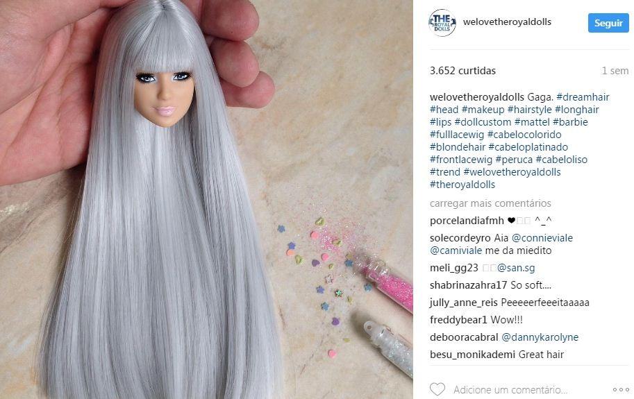 Lady Gaga recriada na versão boneca (Foto: Reprodução/Instagram)