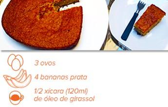Rápido, sem lactose e fonte de fibras: veja receita de bolo de banana fitness