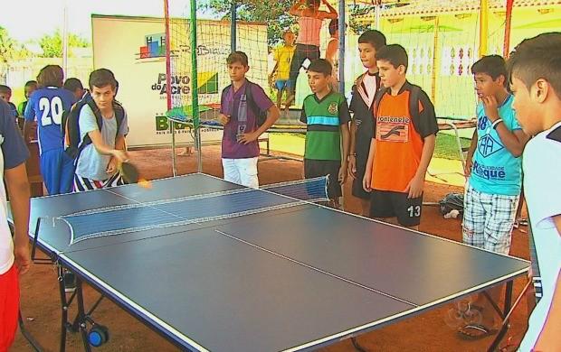 Além de futebol, outras atividades foram disponibizadas para o público que foi ao festival. (Foto: Bom Dia Amazônia)