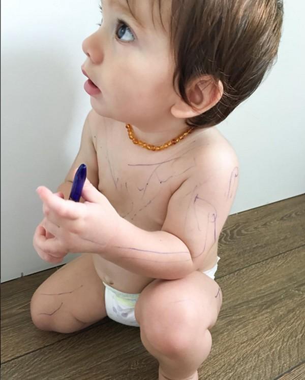 Rodrigo, filho de Adriana Sant'Anna e Rodrigão (Foto: Reprodução/Instagram)