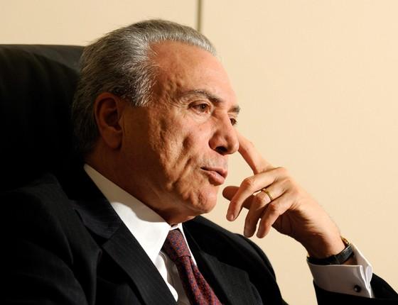 O presidente interino Michel Temer (Foto:  Ruy Baron/ Valor/Agência O Globo)