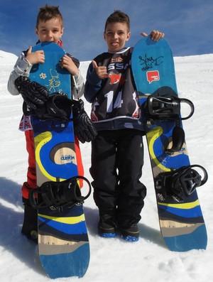 Augistinho e João Teixeira irmão brasileiros argentinos snowboard (Foto: Thierry Gozzer)