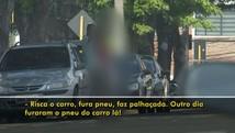 Flanelinhas são flagrados usando drogas em Bauru  (Reprodução / TV TEM)