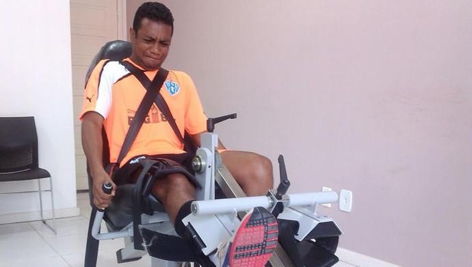 Auguso Recife - Treino em uma clinica Paysandu (Foto: Ascom Paysandu )