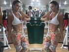 Viviane Araújo posta selfie e exibe barriga sarada na academia