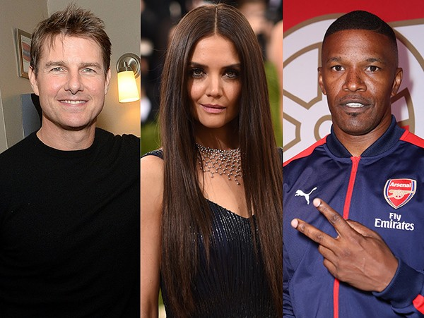 Tom Cruise, Katie Holmes e Jamie Foxx (Foto: Getty Images)
